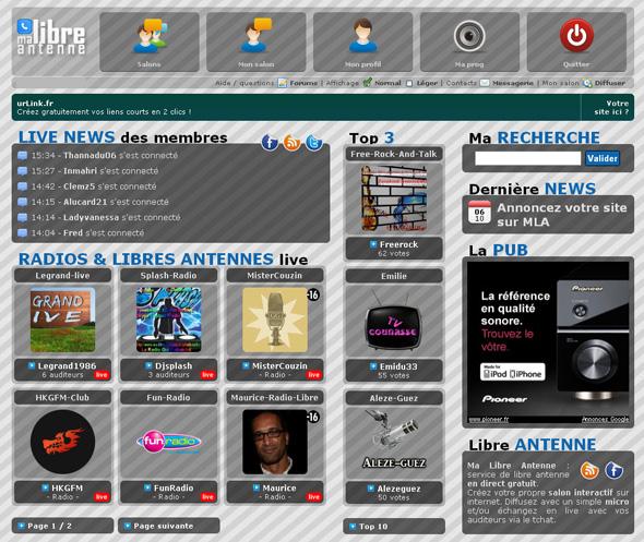 Page d'accueil Ma libre antenne